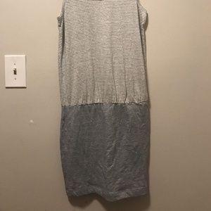 Lou & Grey Loft Gray Stripe Tank Dress